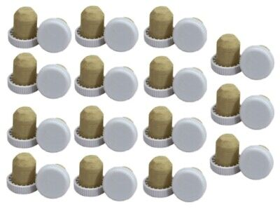£6.79 • Buy Pack Of 30 Plastic Top Flanged Wine Bottle Corks White Cap Home Brew Wine Making