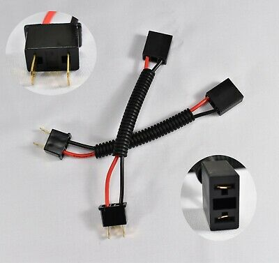 h7 male-female extended wiring harness connector plug adaptor socket  headlight • 12 50$