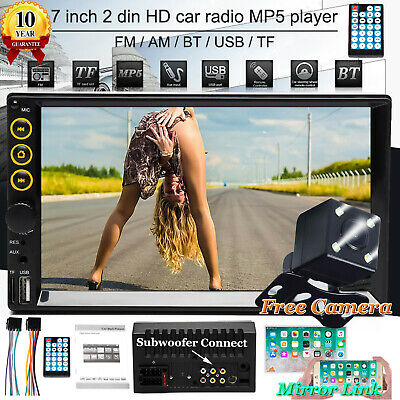 $109.36 • Buy Car Stereo Radio Bluetooth Audio Receiver Double 2 Din 7 Touch Screen USB+Camera