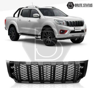 Front Grille With LED For Nissan Navara NP300 2015-2019 DRL Black Grill • 139.99£