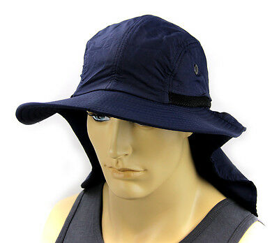 $9.85 • Buy Boonie Hat Cap Sun Flap Ear Neck Cover Sun Protection Soft Material - Navy Blue