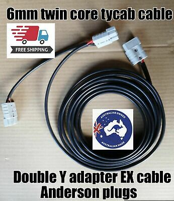 AU63.49 • Buy 10 M Double Y Adaptor With 50 Amp Anderson Style Plug  Twin Tycab Auto 6mm Cable
