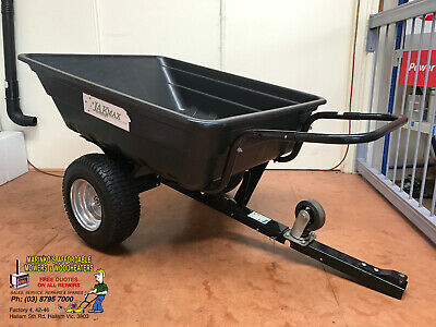 AU219 • Buy RIDEON LAWN MOWER Ride On TRAILER WHEEL BARROW 10cf LARGE WHEEL 300kg CAPACITY