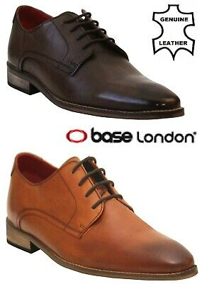 £34.99 • Buy Mens Base London Leather Formal Oxford Pointed Toe Smart Lace-Up Shoes Size 6-12