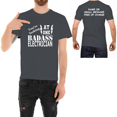 £11.95 • Buy Badass Electrician  T-shirt  Funny Ideal Father Day Birthday Gift For Him