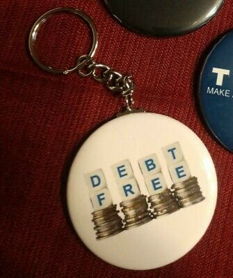 DEPT FREE Letter Dice/Coins Keychain INSPIRATIONAL New • 2.95$