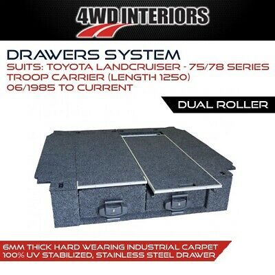 AU2700 • Buy Drawer System To Suit Toyota Landcruiser - 75/78 Series Troop Carrier (Length 12