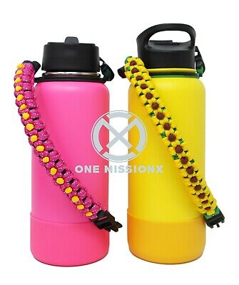 $14.99 • Buy Paracord Handle And Silicone Bottom Protective Cover For Hydro Flask 32 & 40 Oz