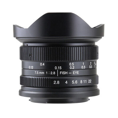 $ CDN186.37 • Buy 7artisans 7.5mm F2.8 Manual Fisheye Lens Sony E Mount A7, A7II, A7R,nex,A7iii