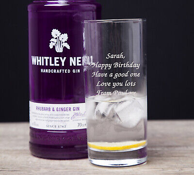 £7.99 • Buy Personalised Engraved Hi Ball Mixer Spirit VODKA AND COKE Glass Any Message