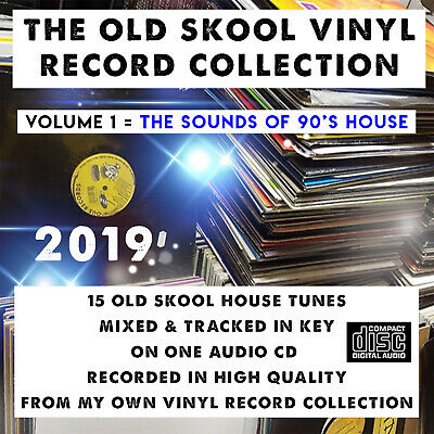 The Old Skool Vinyl Record Collection VOLUME:1 1990's House MIXED CD DJ 2019 NEW • 3£