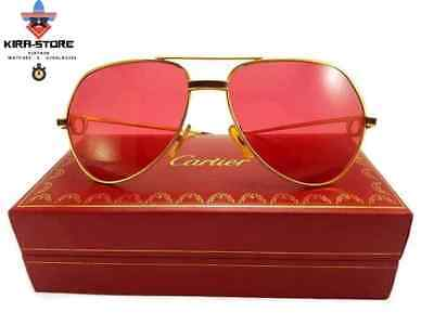 524e158a01a Vintage Cartier Vendome Red Laque De Chine 59mm Sunglasses France • 350.00