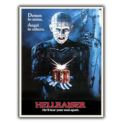 Hellraiser SIGN METAL WALL PLAQUE 80's Horror Cinema Room Man Cave Poster Print • 4.95£