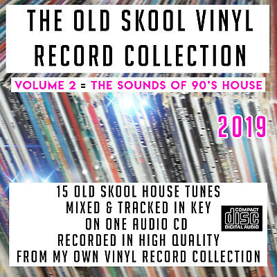 The Old Skool Vinyl Record Collection VOLUME:2 1990's House MIXED CD DJ 2019 NEW • 3£