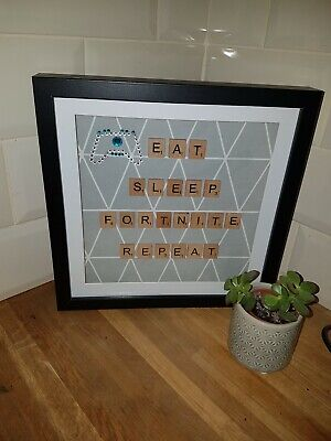 Personalised Scrabble Letter Box Frame Picture • 15.99£