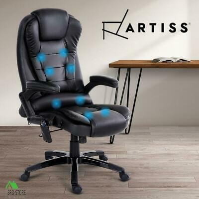 AU157.25 • Buy Artiss Massage Gaming Office Chair 8 Point Heated Chairs Computer Seat Black