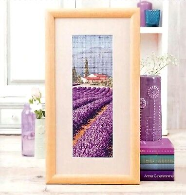 Lavender Field And The Little House Finished Cross Stitch Home Decoration Gifts • 33.76£
