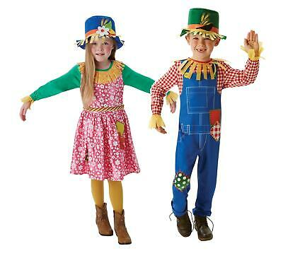Childs Oz Scarecrow Wizard Of Costume Book Week Day Kids Costumes  Fancy Dress  • 16.99£
