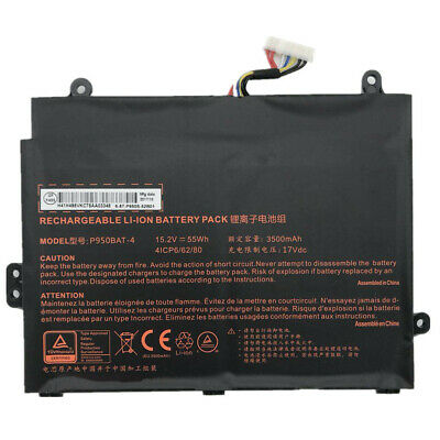 $71.45 • Buy P950BAT-4 Genuine 55Wh Battery For Clevo P950HP6 Sager NP8950 6-87-P950S-52B01