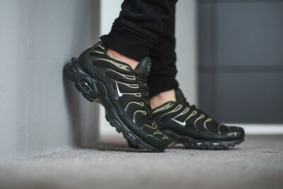 Mens Nike Air Max Plus Classic Sneakers New, Sequoia Green 852630-301 NEW IN BOX • 79.99$