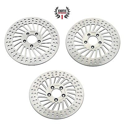 $179.99 • Buy Harley Front & Rear Brake Disc Rotors Road King Street Electra Glide 2008 & Up