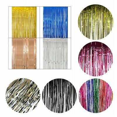 $2.77 • Buy  Foil Fringe Curtain Tinsel Birthday Party Decor Wedding Home Supply -GE