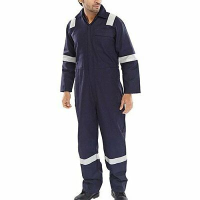 £18.65 • Buy Mens Blue Boiler Suit Workwear Mechanic Coverall Safety Protective Reflective