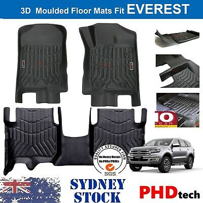 AU139 • Buy Prime Quality 3D TPE All Weather Floor Mats Liners Fit Ford EVEREST 2015-2021