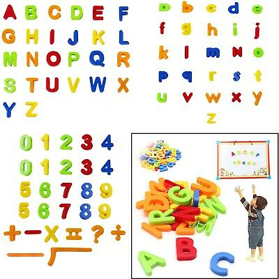 £6.39 • Buy 80pcs Magnetic Alphabet Letters Maths Numbers Symbols Kids Learning Creative Toy