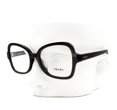 a680e0a1d5 PRADA VPR 25S-F 1AB-1O1 Eyeglasses Optical Frames Glasses Black ~ 53mm Asian