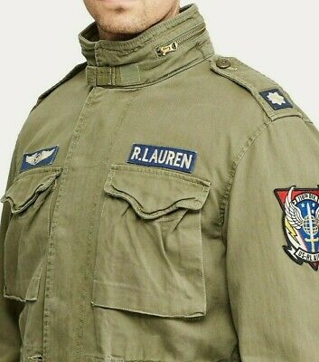 AU285.03 • Buy Polo Ralph Lauren Military Army M-65 One Star Patch Officer Soldier Field Jacket