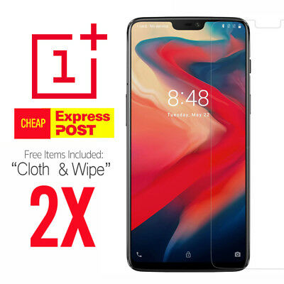 AU2.90 • Buy 2X Tempered Glass Screen Protector Cover Guard Film For OnePlus 5 5T 6 6T