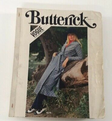 $75 • Buy Butterick 1971 Hardcover Counter Pattern Book Vtg Mary Quant Muir Vogue 70s Boho
