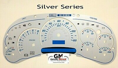 $45 • Buy Silver Edition Escalade Gauge Face Inlay For 2003 04 05 GM Instrument Clusters