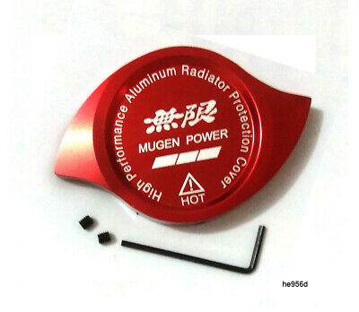 $12.89 • Buy Red Mugen Power Radiator Cap Protection Cover Decoration Aluminum