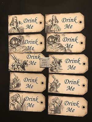 £3.33 • Buy 10 Large Alice In Wonderland Drink Me Tags Wedding Birthday Tea Party Decoration