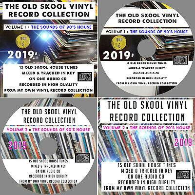 The Old Skool Vinyl Record Collection VOL: 1 & 2 Old Skool 90's House Mixed CDs • 5£