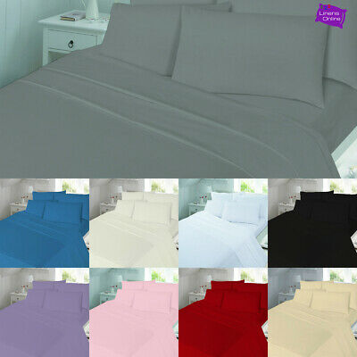 Fitted Sheet Flannelette 100% Brushed Cotton Single Double Super King Size • 12.95£