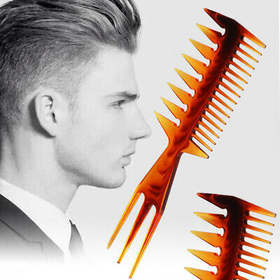 £2.29 • Buy Mens 3 Way Large Tooth Detangle Comb Wide Teeth Pick Hair Comb Hair Styling Comb
