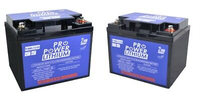 AU975 • Buy 2 X Pro Power 12V Volt 50ah Lithium Iron Deep Cycle Battery Mobility Scooter