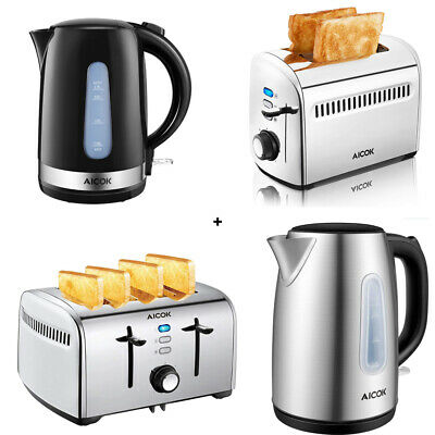 AU49.95 • Buy 2 Or 4 Slice Toaster With Cordless 1.7L Electronic Kettle Combo Deal