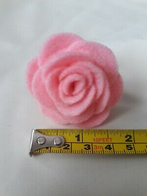 Small Felt Rose Brooch/lapel Pin In Pale Pink. Lots Of Other Colours Available  • 1.99£