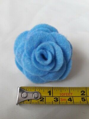Small Felt Rose Brooch/lapel Pin In Pale Blue. Lots Of Other Colours Available  • 1.99£