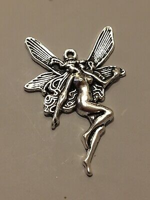 £1.99 • Buy 5pcs Large Tibetan Silver Dancing Fairy Pagan Charms For Jewellery Making