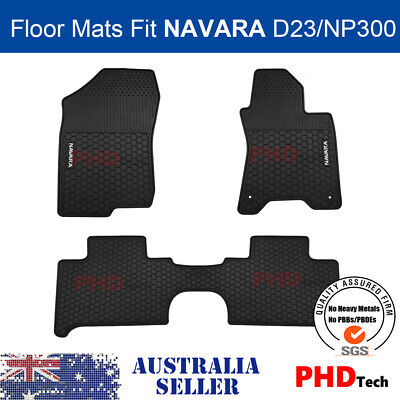 AU85 • Buy Premium Quality All Weather Rubber Floor Mats For NISSAN Navara NP300 D23