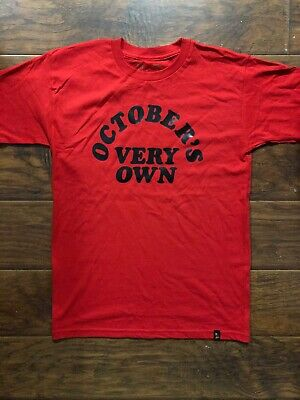 6583ff79bfb74f OVO October s Very Own Drake Merch Red Tee Shirt Size Small • 30.00