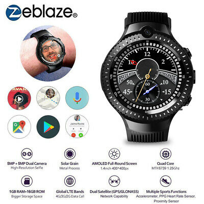AU188.01 • Buy Zeblaze THOR 4 Dual Smart Watch 4G Quad Core 16GB 400*400 5.0MP Camera GPS U6C2
