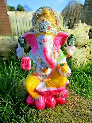 Fair Trade Hand Made Indian Resin Ganesh Ganesha Elephant Hindu Deity Statue  • 12.99£