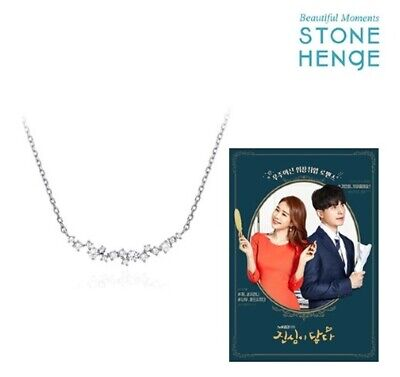 $ CDN184.61 • Buy StoneHenge Silver Necklace K0206 Touch Your Heart Korea Drama Yu In Na's Necklac