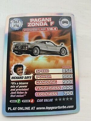 TOP GEAR Turbo Challenge SUPER RARE Card 263/276 • 30£
